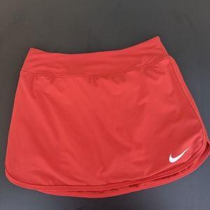 Nike Dri Fit Tennis Skort in Red